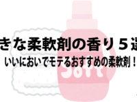 好きな柔軟剤の香り5選!いいにおいでモテるおすすめの柔軟剤!!